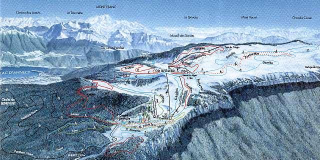 Les pistes de ski - Ski alpin dessin ...